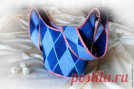МК сумки-торбы из джинсы с Ярмарки Мастеров (из интернета) | Швейная мастерская