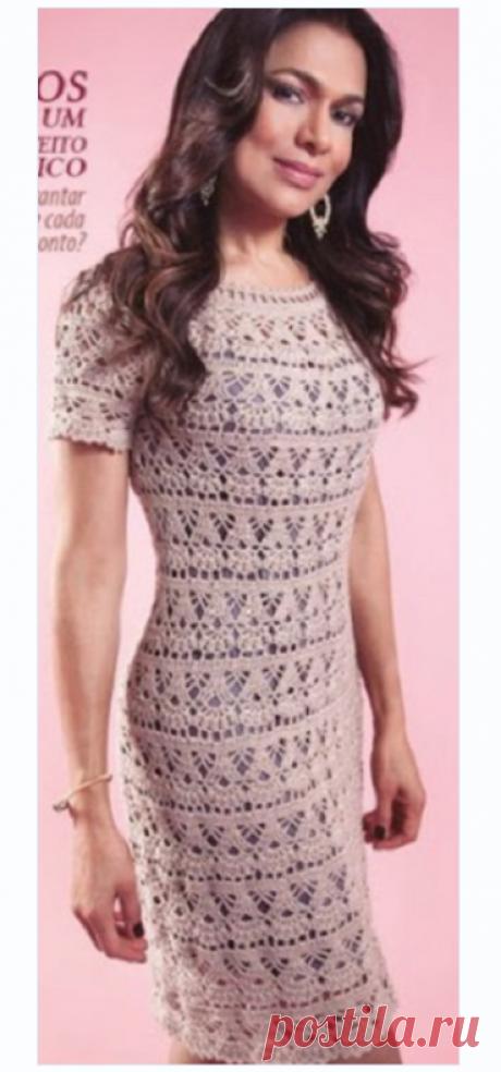 Кружевное платье крючком 2019