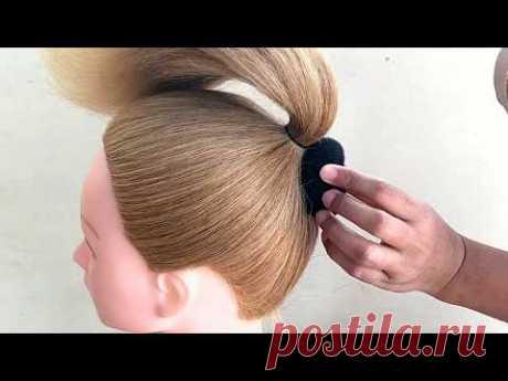Easy Bun Hairstyles For Beginners || Bun For Short Hair || Hair Tutorial For Girls