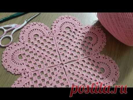 Tığişi Örgü Kalp Modeli Yapımı, Çeyizlik Yatak Odası Takımı & Crochet