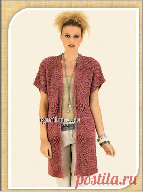 18 длинных жилетов на спицах | Embroidery art | Яндекс Дзен