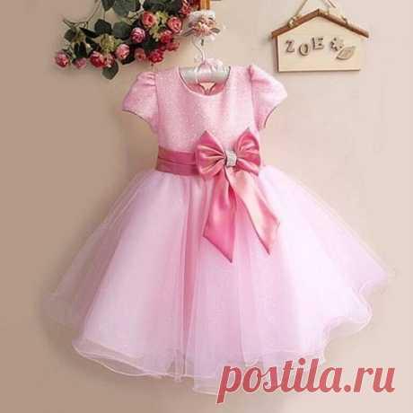 Идея детского платья с пышной юбкой. Выкройки