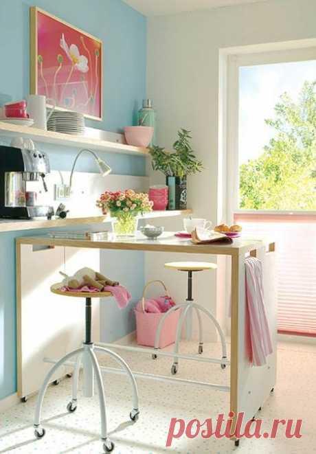 Как сделать маленькую кухню уютной и красивой:разные варианты дизайна интерьеров   Люблю Себя
