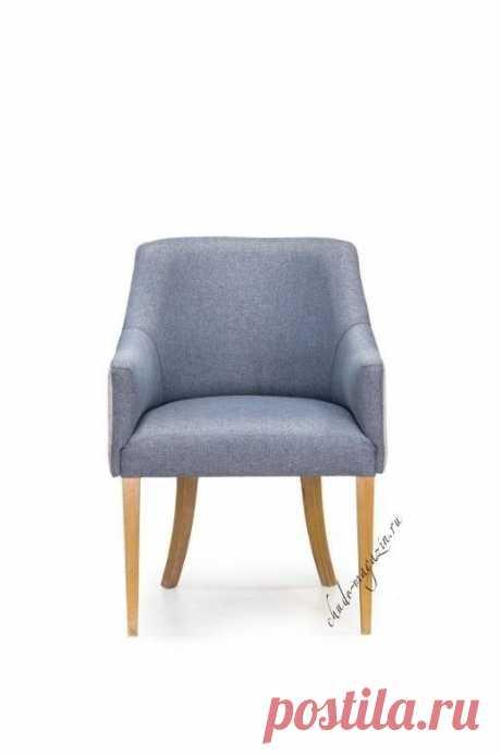 Кресло Глори мягкое серого цвета К-12Б