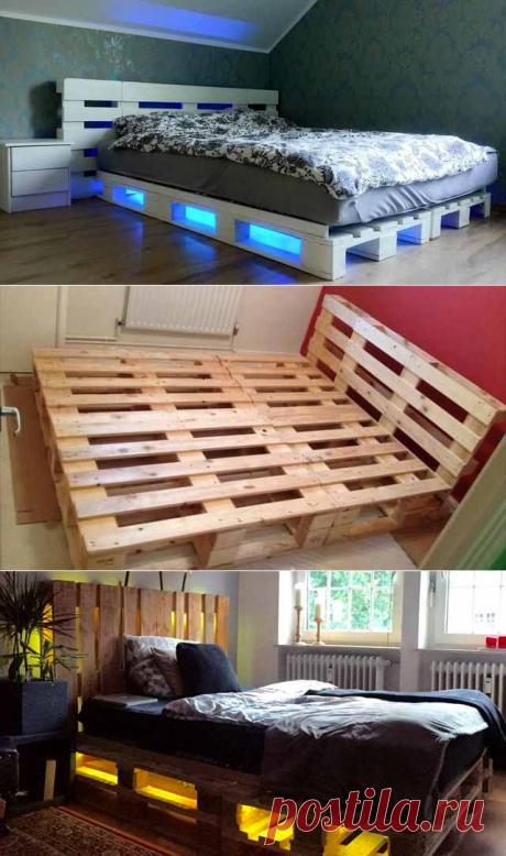 Как просто сделать кровать из поддонов своими руками