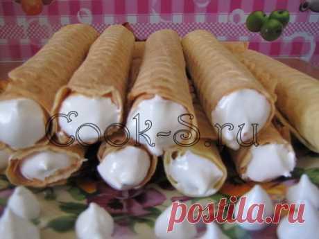 Вафельные трубочки - Пошаговый рецепт с фото | Десерты
