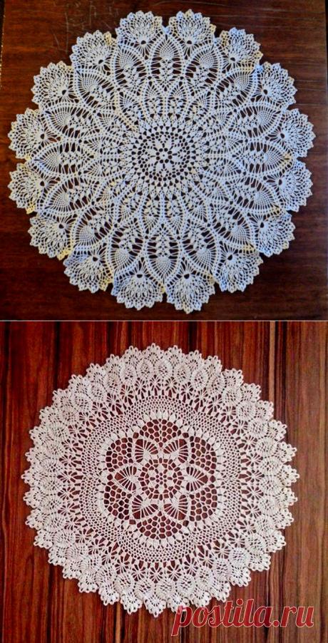 Красивые салфетки крючком в вашу коллекцию - Crochet Modnoe Vyazanie