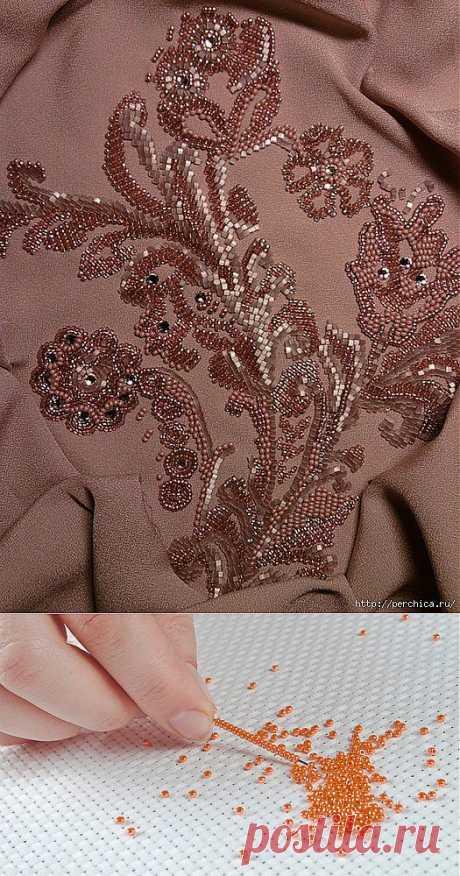 Как вышить красиво одежду бисером + шаблоны и мк.