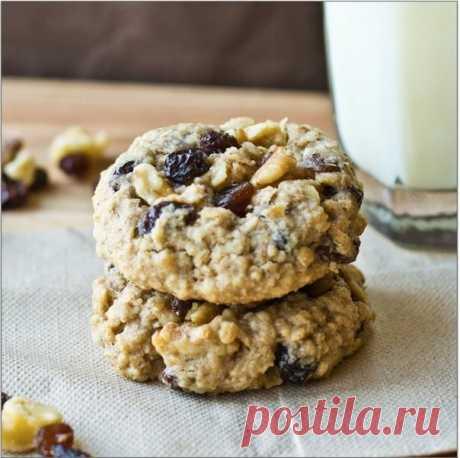 Как приготовить овсяное печенье с изюмом, орехами и корицей - рецепт, ингридиенты и фотографии