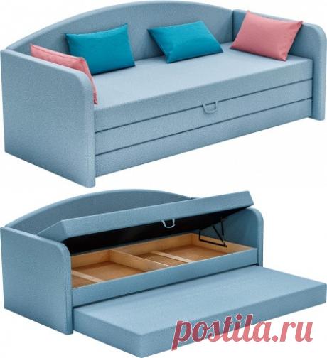 Купить кровать с мягким изголовьем Диор в Минске | Кровати с пружинным блоком, цены