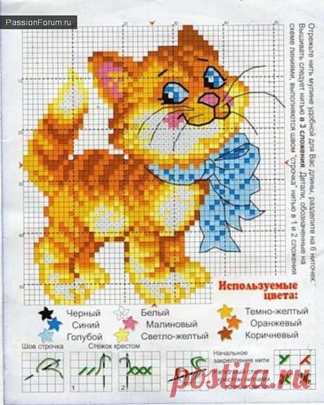 Коты и кошки. ЧАСТЬ 4 / Схемы вышивки крестиком / PassionForum - мастер-классы по рукоделию