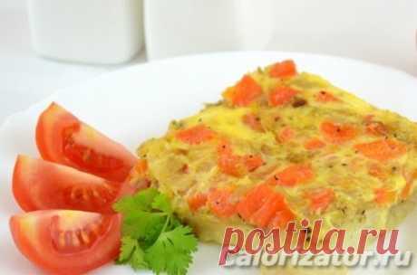 Рыба, запеченная с морковью и луком - калорийность, состав, описание - www.calorizator.ru