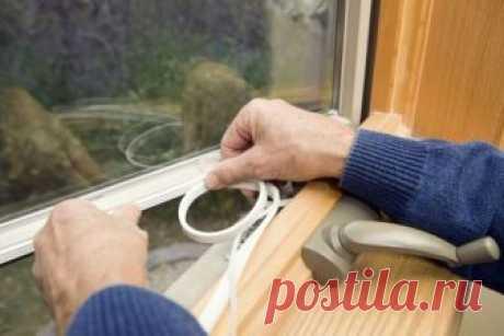 Готовим сани летом: Как утеплить пластиковое окно своими руками — Лайфхаки