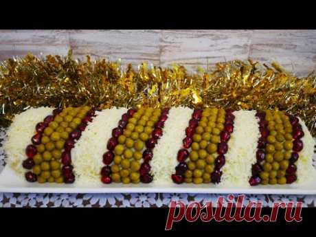 Салат на Новый Год 2021 новогодний стол КОРОЛЬ САЛАТОВ салат рулет Красивый салат на праздничный сто