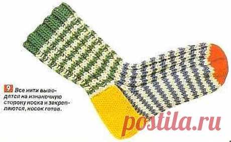 Вяжем теплые носки. Курс по вязанию носков » VSE-SAM.ru - Сделай сам своими руками поделки, самоделки