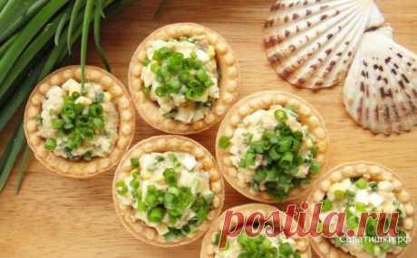 """Закуска """"Тарталетки с сельдью"""" — Sloosh – кулинарные рецепты"""