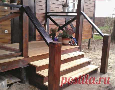 Как пристроить лестницу к открытой террасе