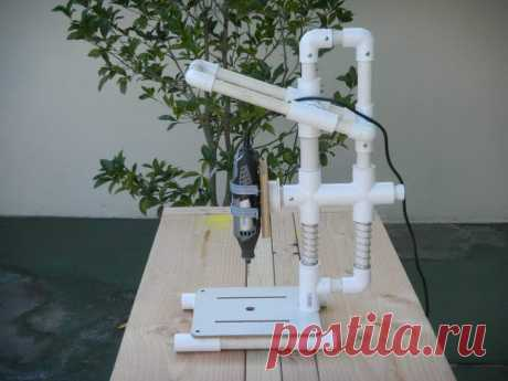 The boring machine from plastic pipes