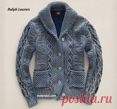 Вязаный жакет для мужчин от Ralph Lauren (вязание спицами)
