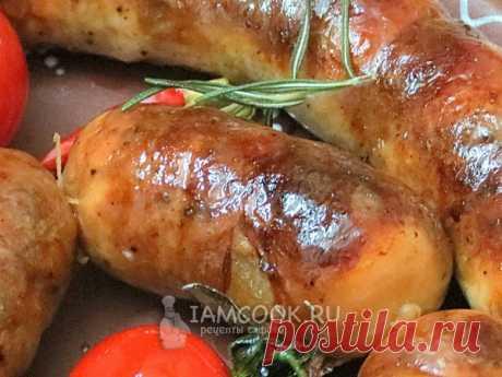 Домашняя чесночная колбаса Запеченная домашняя колбаса - это очень вкусно. Это и закуска, и основное блюдо с гарниром. Попробуйте!