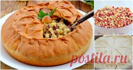 Татарский пирог «Зур бэлиш». Очень красивый и вкусный!