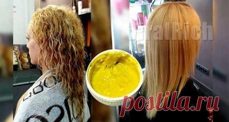 Выпрямление волос с помощью этого простого 4-х ингредиентного рецепта - Советы на каждый день