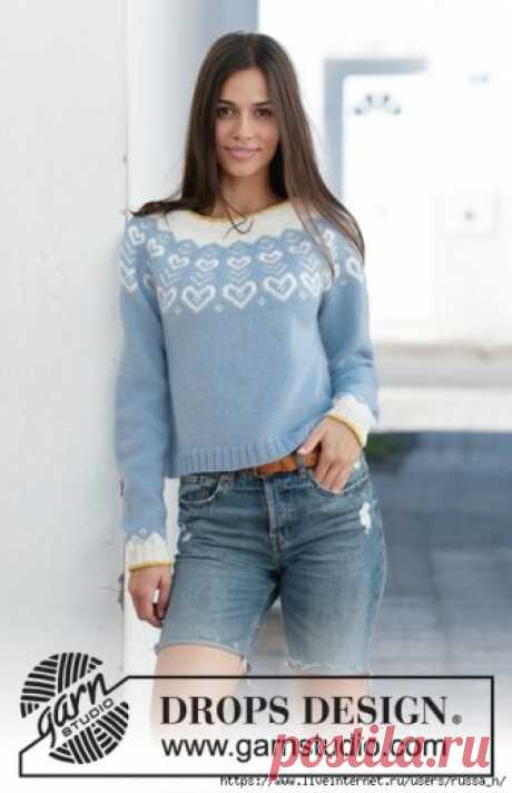 Dear to my Heart Sweater by DROPS Design