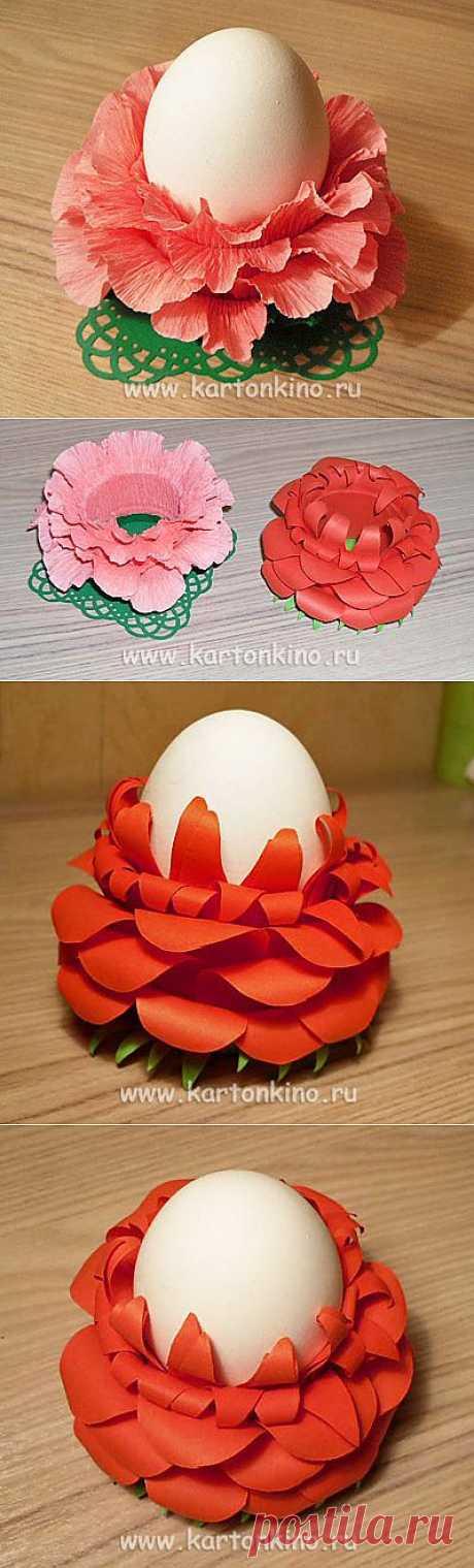 Цветущие подставки для пасхальных яиц | КАРТОНКИНО.ru
