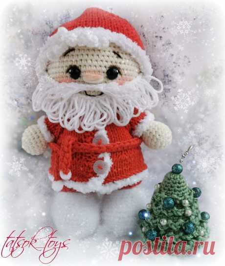 Пупс малыш Дед Мороз крючком | Амигуруми