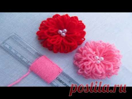 Hand Embroidery Amazing Trick# Easy Flower Embroidery Trick with Scale# Sewing Hack