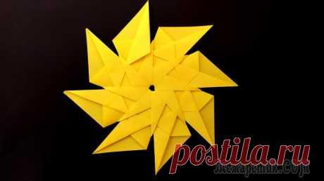 Как сделать звезду из бумаги. Оригами звезда Как сделать звезду из бумаги. Оригами звезда. Сегодня, мы научимся делать из бумаги красивые объемные звездочки, которые смогут красиво украсить некоторые элементы Вашего дома. Это простая поделка. Зв...