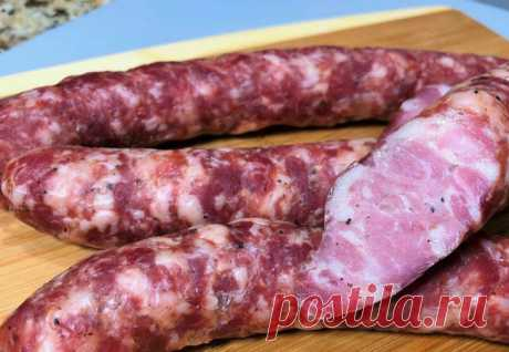 Домашняя колбаса готова за 3 часа: настоящая краковская в духовке