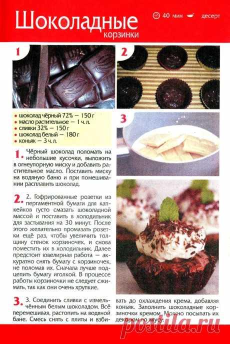 Los canastillos de chocolate