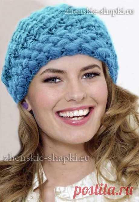 Warm winter cap hook scheme and description of knitting