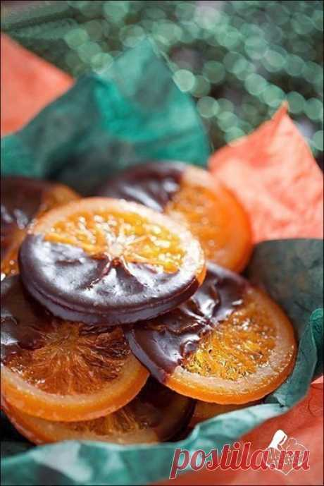 Карамелизованные апельсины в шоколаде-украшение вашего стола