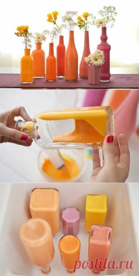Украшаем дом: делаем стильную вазу своими руками