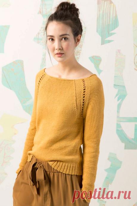 Летний вязаный пуловер Gaia | ДОМОСЕДКА