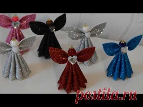 Ангел из фоамирана на Новогоднюю Елку./ DIY Christmas Angel