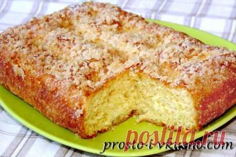 Сахарный пирог со сливками. Пошаговый рецепт с фото
