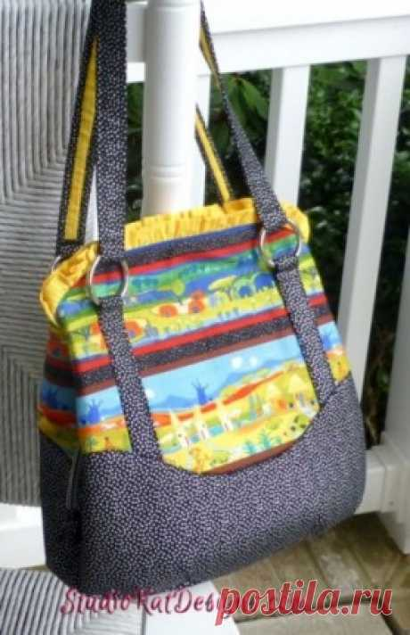 the Triple Play handbag pattern | Studio Kat Designs