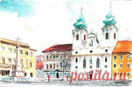 Танцующий фонтан, Дьер, Венгрия | gala-galina.ru