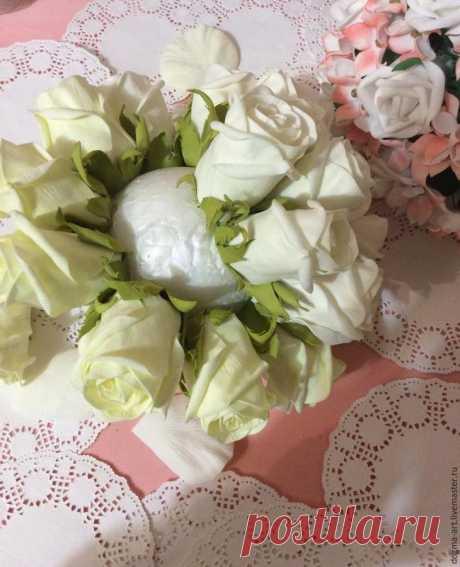 Создаем закрытые розы из фоамирана для свадебного букета