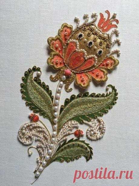 Роскошная вышивка с жемчугом: идеи — DIYIdeas