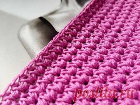 Плотный узор крючком для вязания сумок, пледов, ковров.🌶 | Asha. Вязание и дизайн.🌶Сонник. | Яндекс Дзен