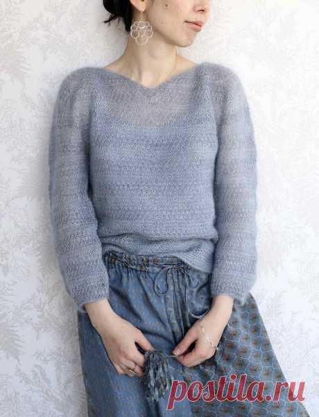 Пуловер из мохера Foret - Вяжи.ру