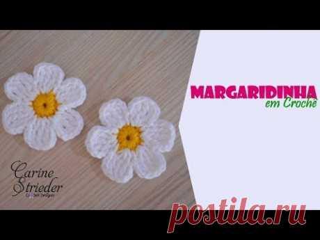 Margaridinha de Crochê por Carine Strieder