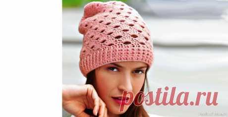 Кашемировая шапочка с фантазийным узором | Вязаные крючком аксессуары