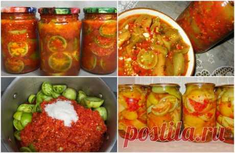 Зеленые помидоры в аджике - топ лучших рецептов - Готовьте с Любовью