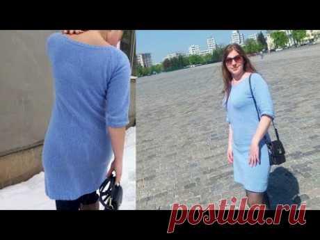 Базовое платье спицами/ Реглан снизу/Видео-описание - YouTube