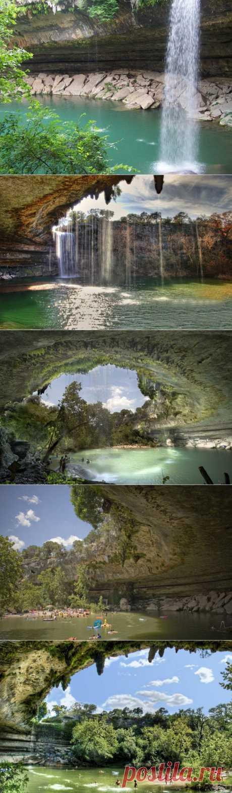 Очень красивое озеро Hamilton Pool